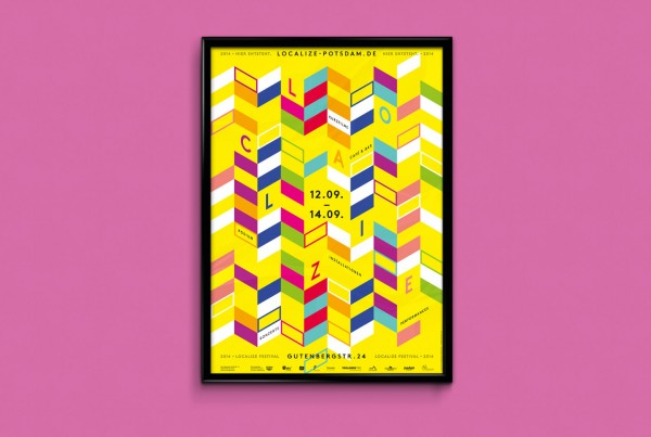 Grafik Design Localize Festival Potsdam Plakat