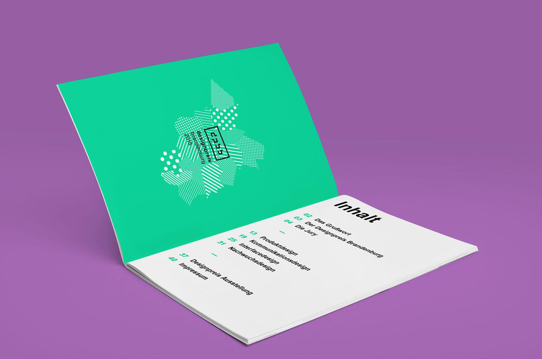 Corporate Design Potsdam Designpreis Brandenburg Broschur Inhaltsverzeichnis