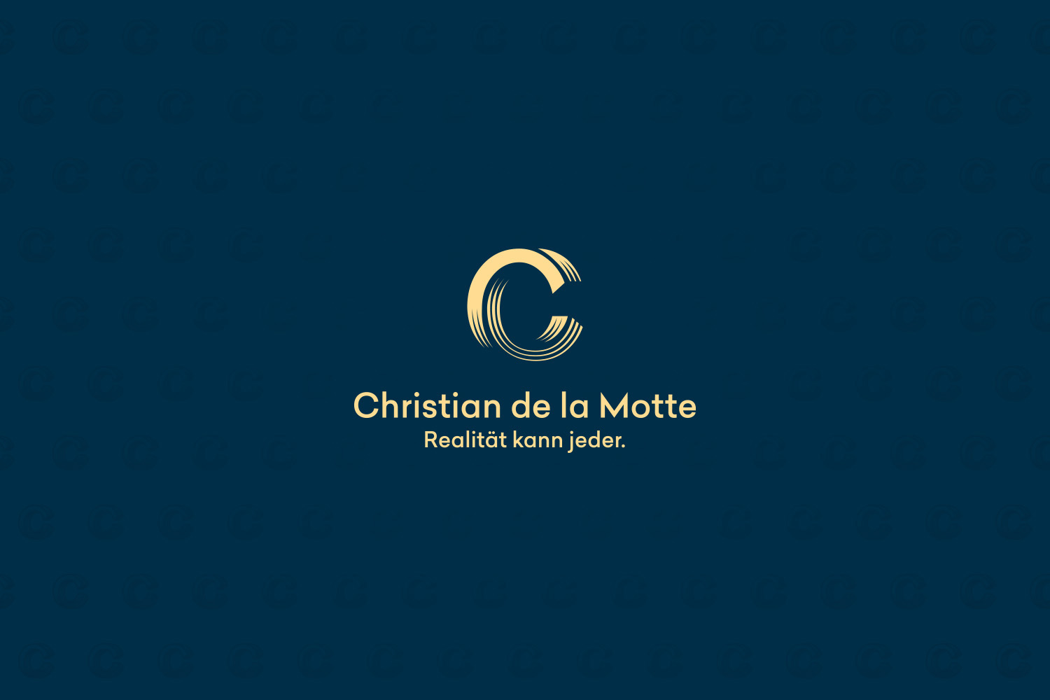 Corporate Design Potsdam Christian de la Motte Logo