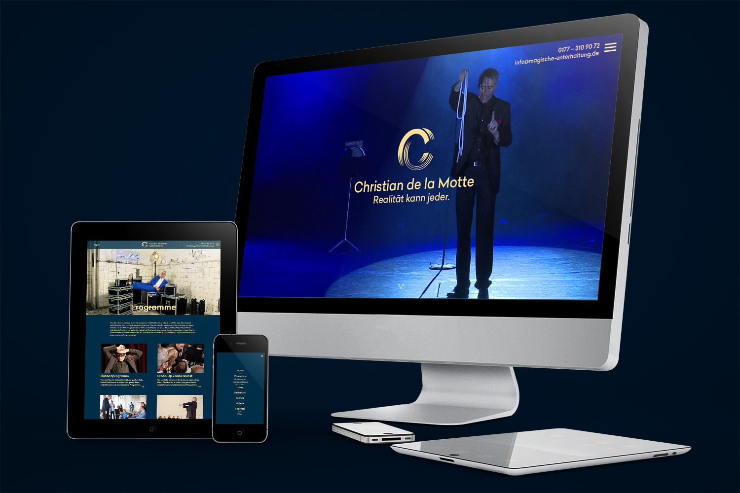 Corporate Design Potsdam Christian de la Motte Webdesign