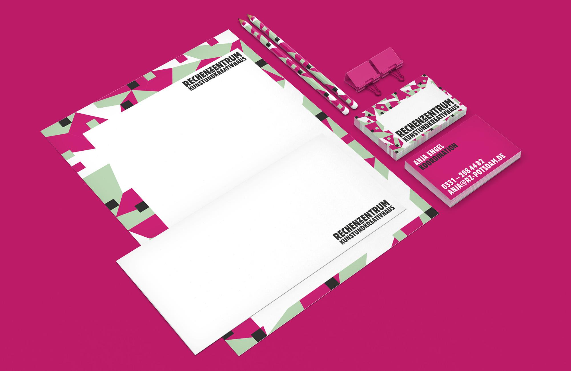 Corporate Design Rechenzentrum Potsdam Geschäftsausstattung