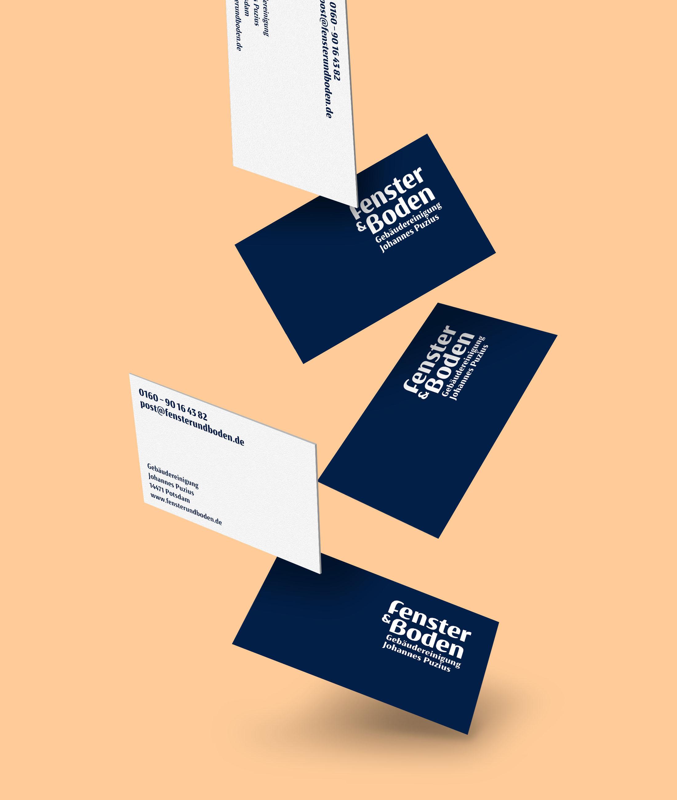 Corporate Design Potsdam Fenster und Boden Visitenkarten