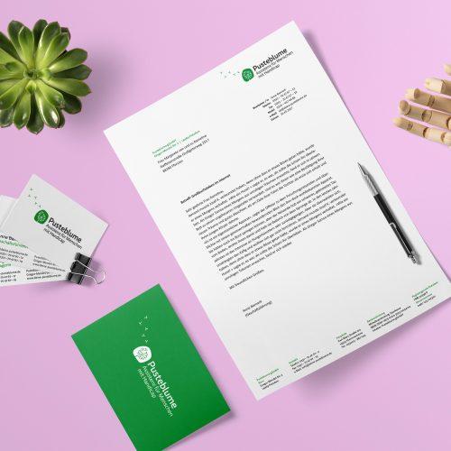 Corporate Design Potsdam Pusteblume Geschäftsausstattung