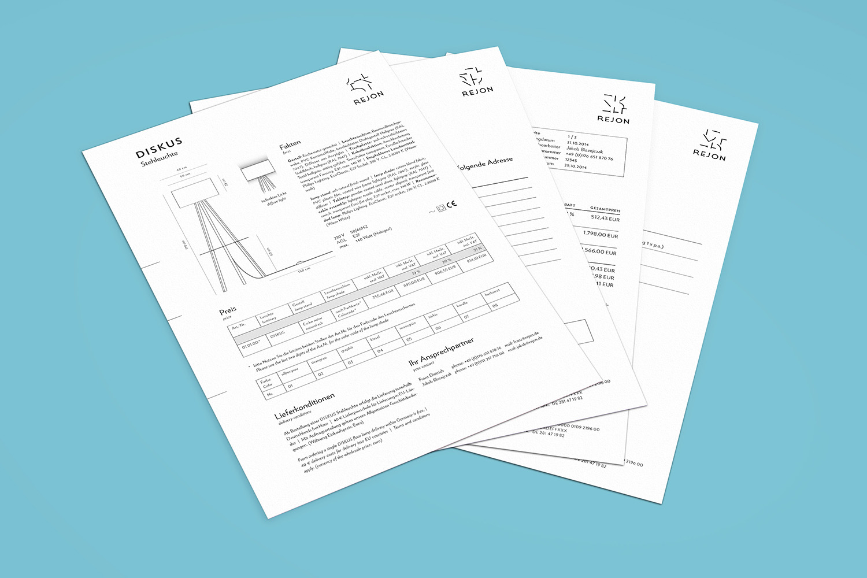 Corporate Design Potsdam Rejon Datenblatt