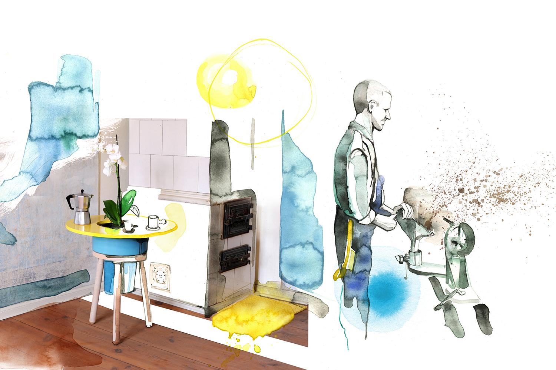 Corporate Design Potsdam Rejon Illustration