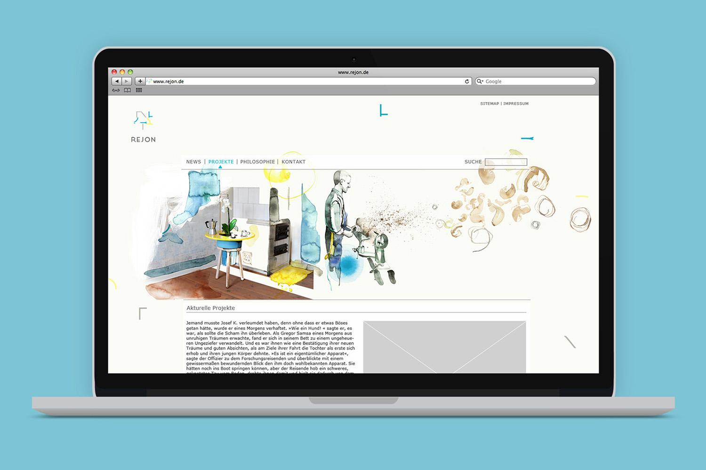 Corporate Design Potsdam Rejon Website