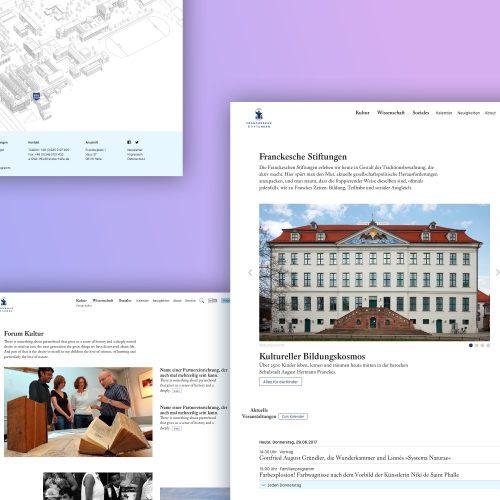 UX / UI Website Design Potsdam Franckesche Stiftungen Halle anschlaege.de Screendesign