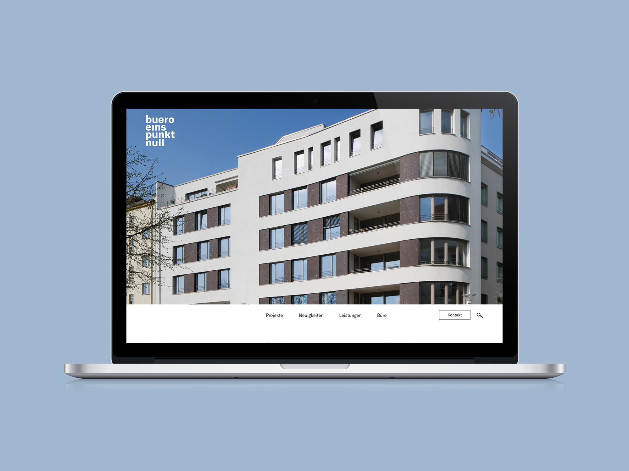 UX / UI Website Design Potsdam buero 1.0 Architektur Konzept Startseite