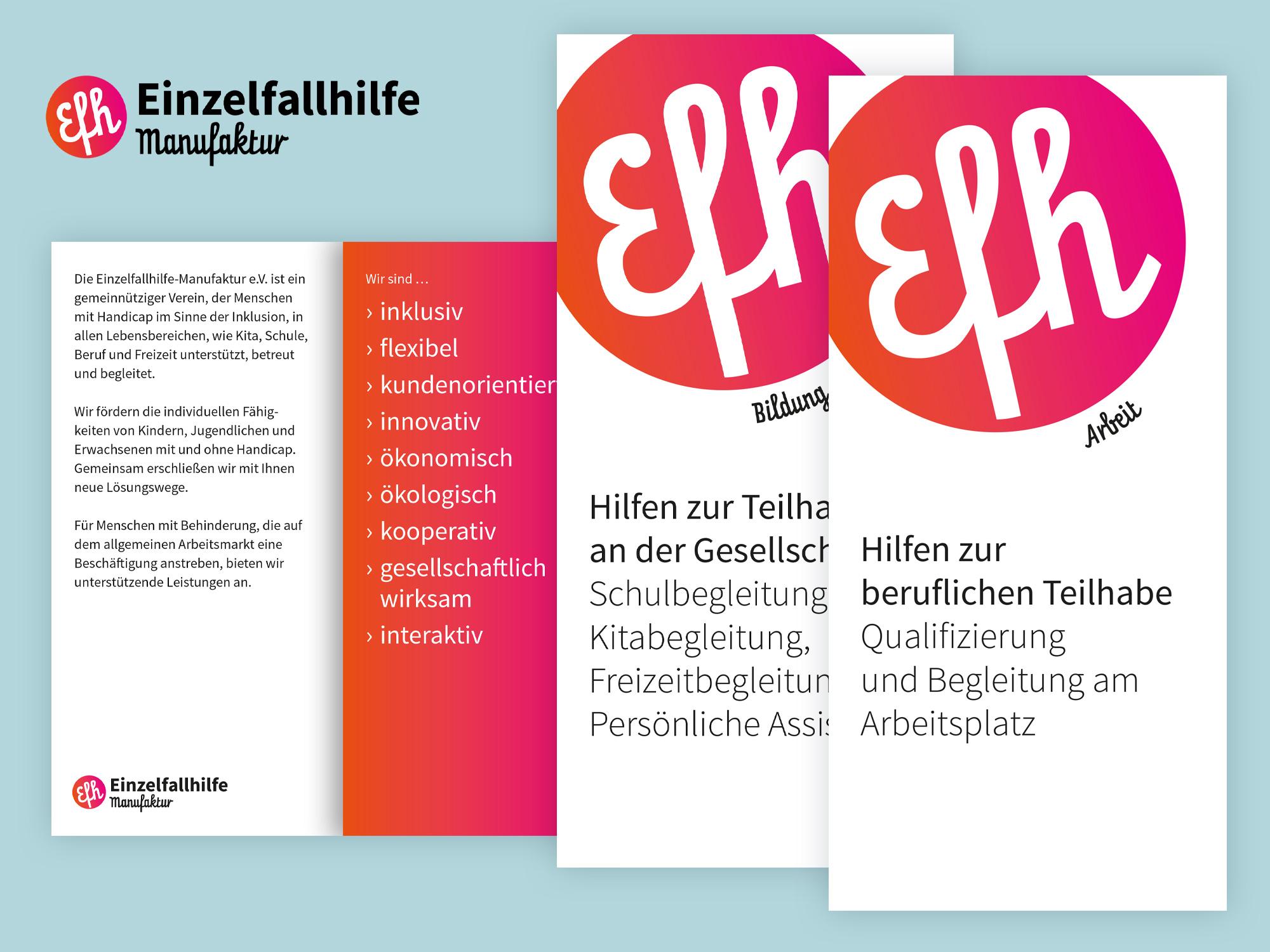 Brand Design Potsdam Einzelfallhilfe Flyer