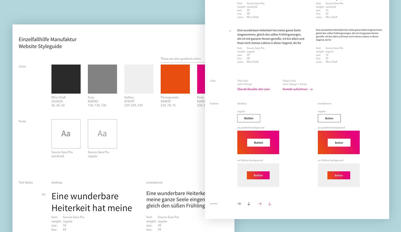 Brand Design Potsdam Einzelfallhilfe Styleguide
