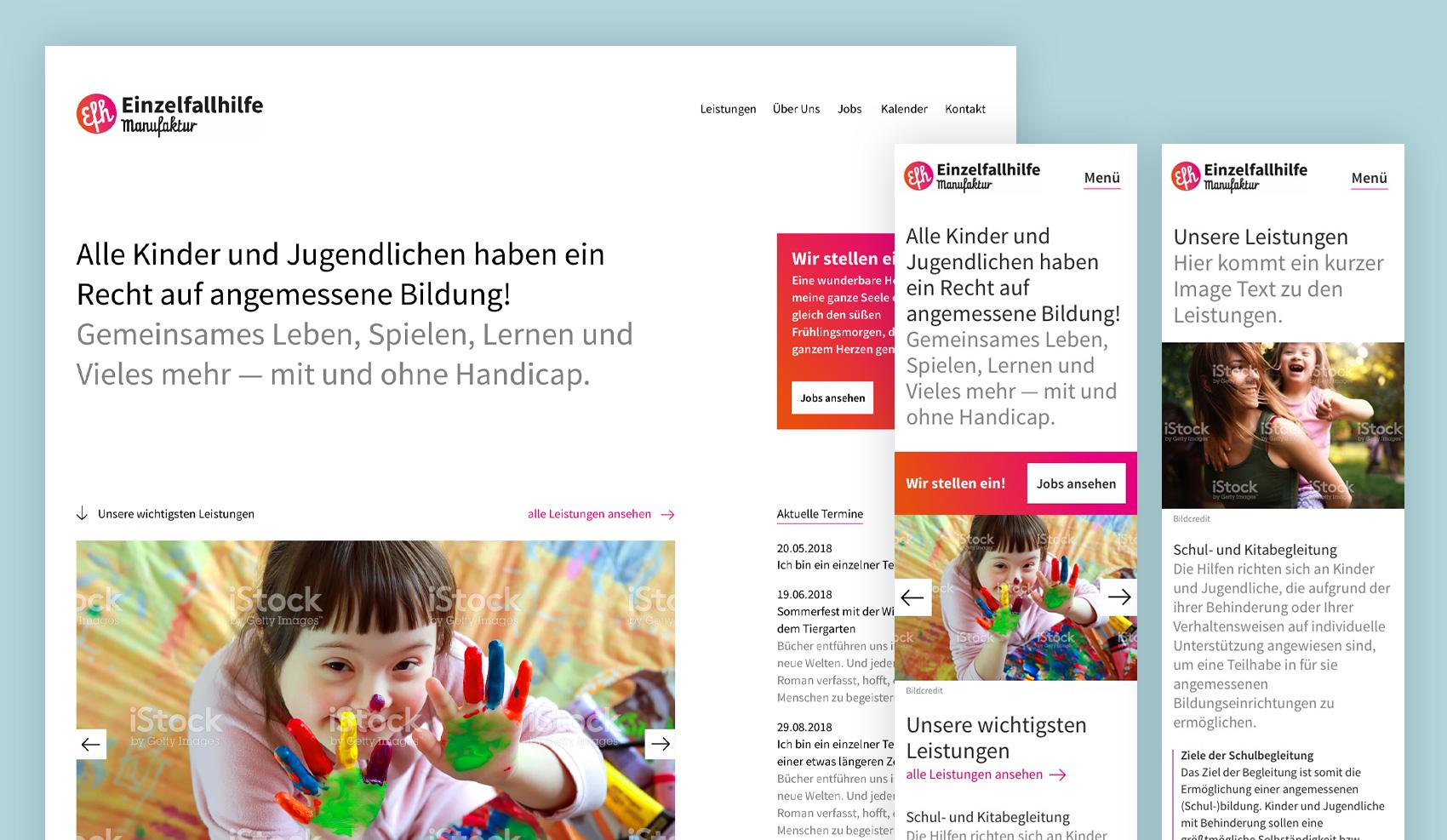 Brand Design Potsdam Einzelfallhilfe Website